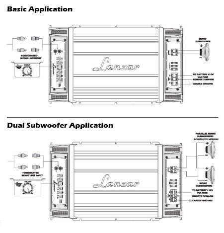monoblock wiring diagram lanzar maxp2651d 5000 watt monoblock class d