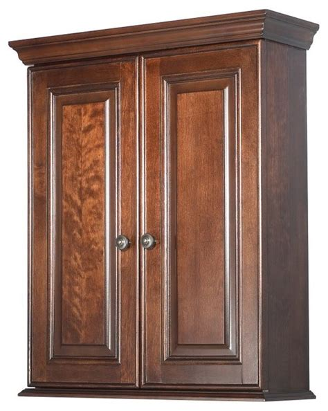 foremost hawthorne bathroom wall cabinet walnut