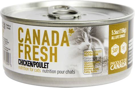 so cat food canada canada fresh chicken canned cat food 5 5 oz of 24