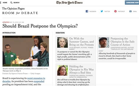 ny times room for debate our opinion on whether to postpone the olympics in new york times debate forum catalytic