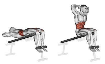 decline bench sit up exercise database abs10 decline sit ups jase stuart