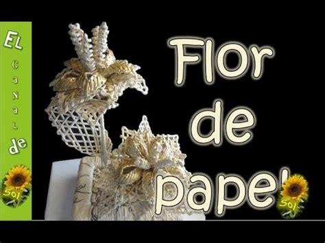 rosas de papel peridico flor de papel periodico youtube
