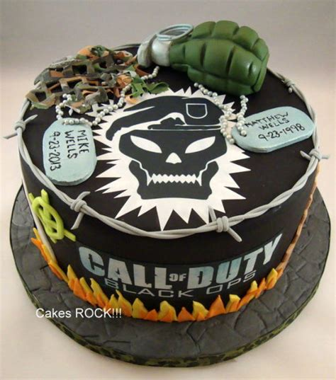 Cake Decorating Ideas Zombies Call Of Duty Black Ops Birthday Cake Cake By Cakes Rock
