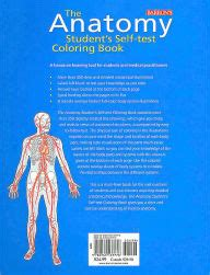 anatomy coloring book barnes noble anatomy student s self test coloring book by dr kurt