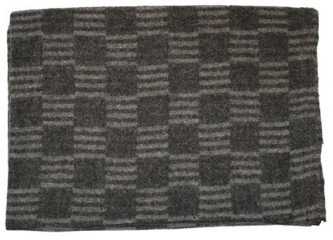 Russische Decke by Original Russ Wolldecke Grau Kariert Neuwertig
