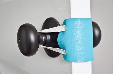 diy no sew door latch cover project nursery