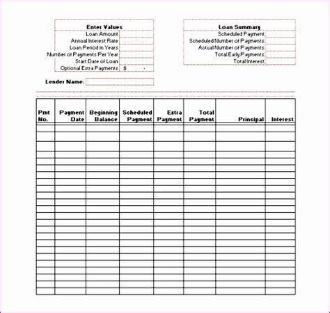 amortization schedule spreadsheet template 9 excel loan amortization template exceltemplates