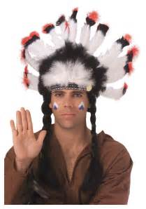 indian headdress halloween costume feathered american indian headdress