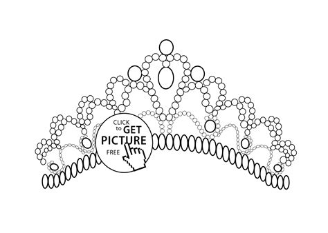 tiara coloring page getcoloringpagescom sketch coloring page