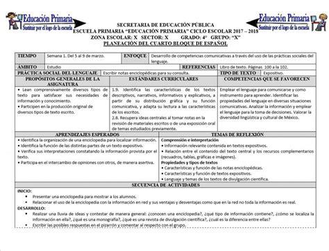 planeaciones cuarto grado bloque 1 primer bimestre ciclo escolar 2014 planeaciones del cuarto grado del cuarto bloque para el