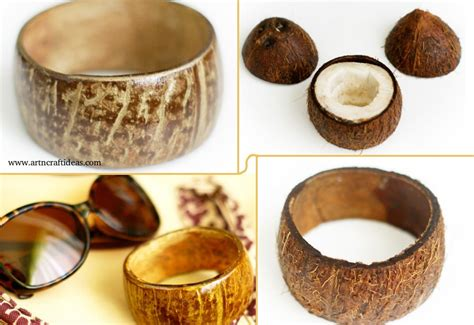 coconut craft for how to make coconut shell bracelet step by step