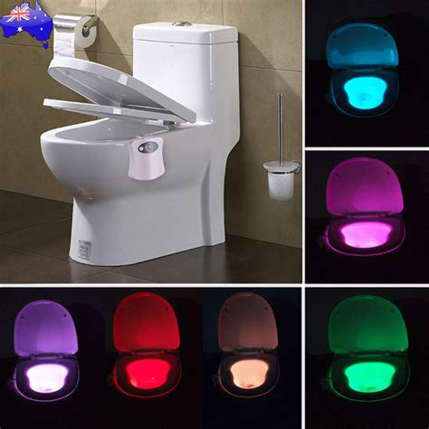 toilet light motion activated toilet night light bowl bathroom led 8