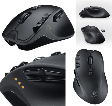 Mouse Logitech Wireless G700 logitech g700 black wireless laser gaming mouse rechargeable computerpad ae