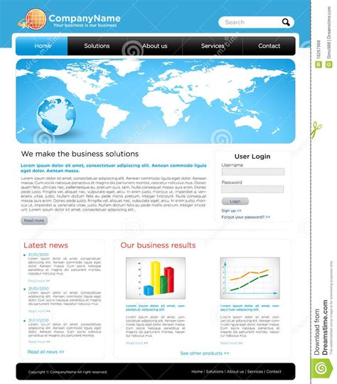 A Editable Business Website Template Royalty Free Stock Photos Image 16267968 Copyright Free Website Templates