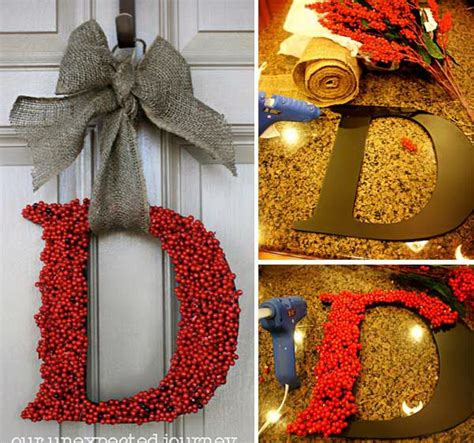 diy wreath 20 creative diy door decoration ideas noted list