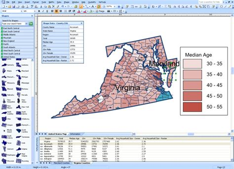 middle atlantic visio visio mapshapes for states and counties in united states