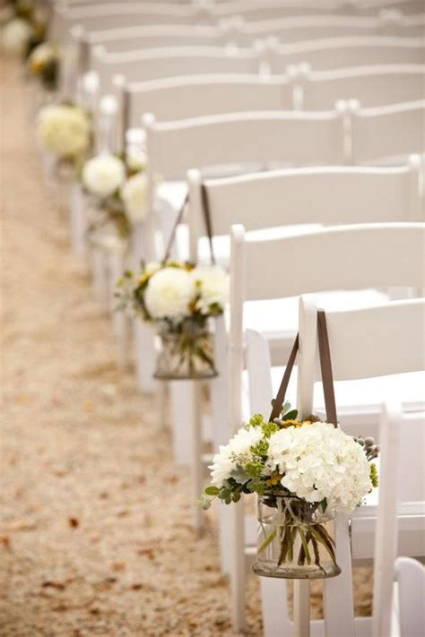 Wedding Aisle With Tables by Aisle Chair Flowers And Cocktail Table Flower Idea