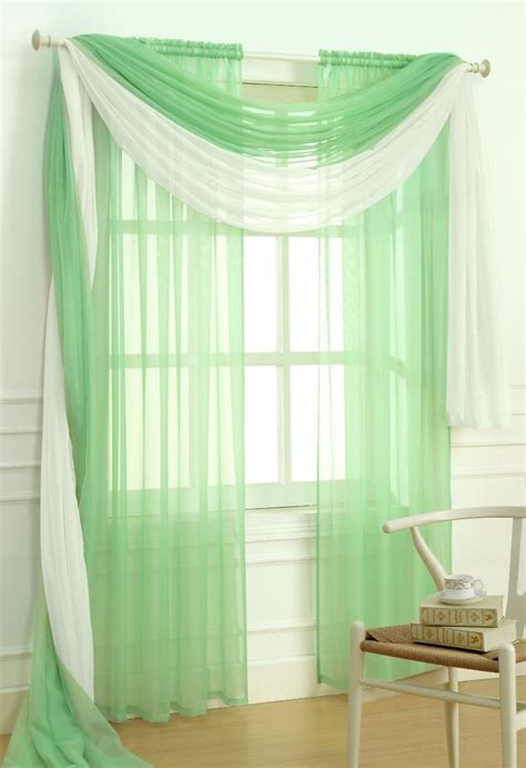 jade green curtains sheer voile 2 piece jade green curtain panel solid window