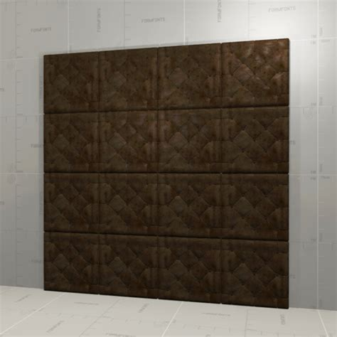 leather walls leather wall panel 3d model formfonts 3d models textures