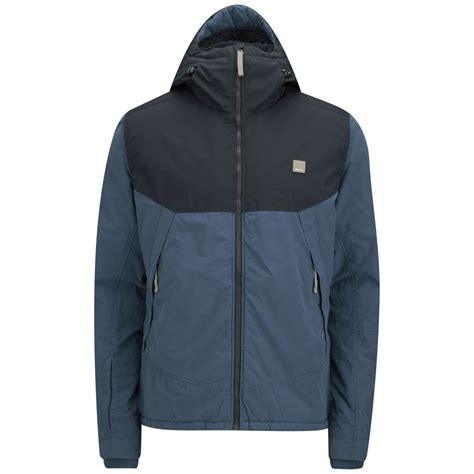 bench men s clothing bench men s blockrock jacket navy clothing zavvi