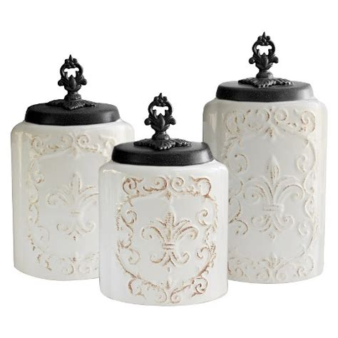 Kitchen Canisters Target by American Atelier Antique Canisters Set Of 3 White Target