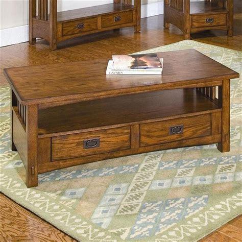 Peters Revington Coffee Table Nebraska Furniture Mart Peters Revington Mission Oak Coffee Table With 2 Drawers Arts