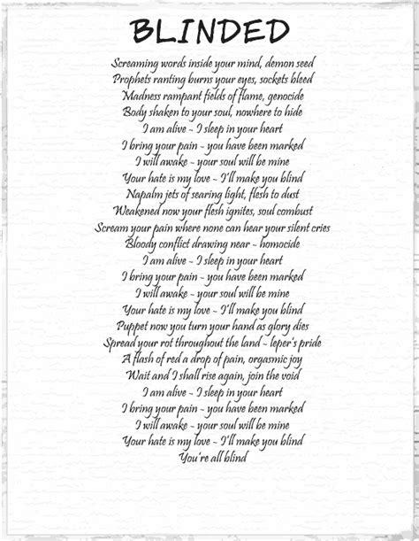 Blinded By The Lights Lyrics by Mindscape Blinded Lyrics Heavy Metal Rock