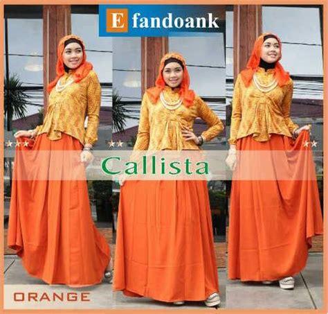Calista Syar I callista by efan orange baju muslim gamis modern