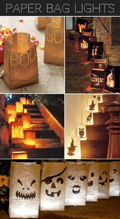 patterns for paper bag luminaries diy halloween paper bag lights and more luminary ideas
