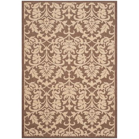Safavieh Courtyard Chocolate Natural 4 Ft X 5 Ft 7 In Home Depot Outdoor Rugs