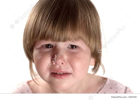 tiny small picture of crying little girl