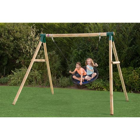 plum wooden swing set plum spider monkey 2 wooden garden swing set kiddicare com