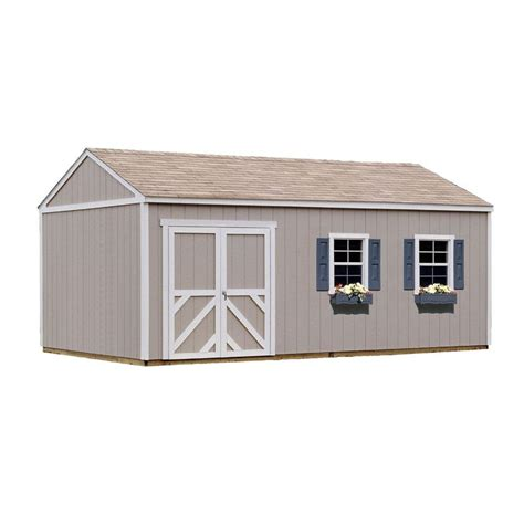 handy home products columbia 12 ft x 20 ft wood storage
