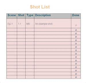 shotlist template list driverlayer search engine