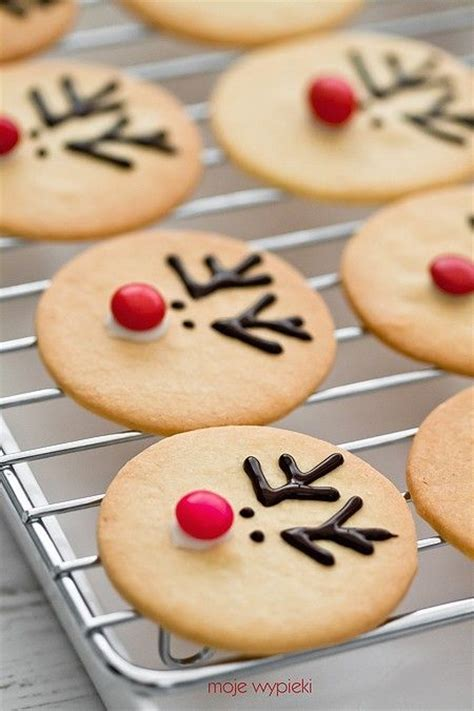 rudolph shortbread biscuits decorated with melted
