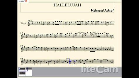 hallelujah bon jovi testo hallelujah violin sheet