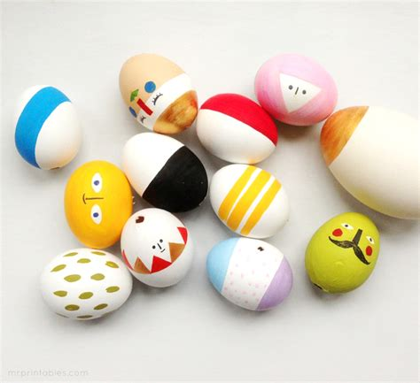 how to decorate eggs easter eggs mix match sculptures mr printables