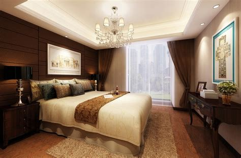 Background Bedroom by European Style Brown Background Wall Bedroom