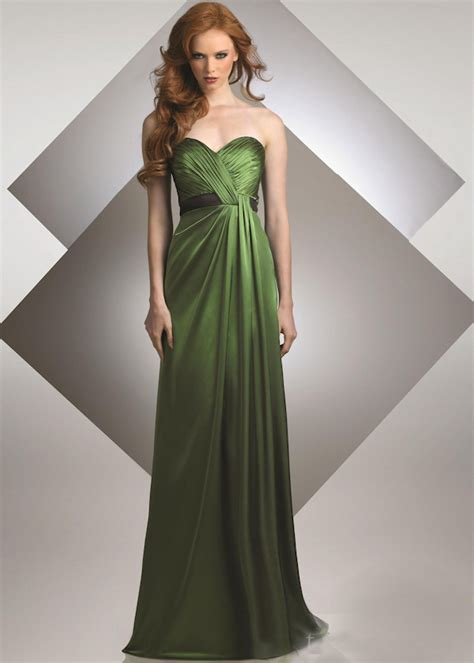 Green Bridesmaid Dress by Green Weddings Bitsy