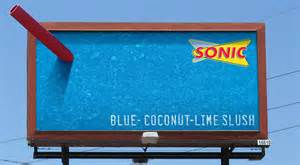 Sonic s 3 d slushes named the year s best billboard campaign at 2015