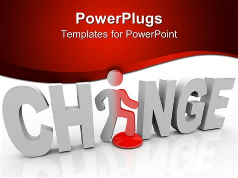 Powerpoint Template 3d Word Change With White Letters And A Figure Replacing Letter A In Word Change Template Powerpoint