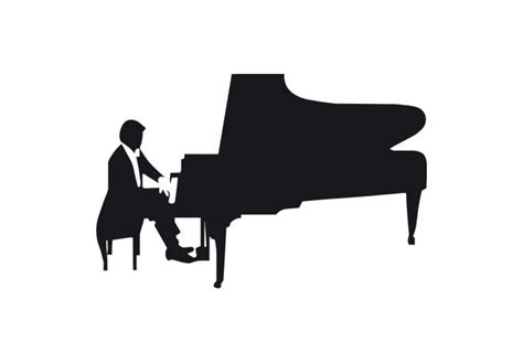 Red White And Blue Home Decor Piano Player Wall Decal Musical Decor Vinyl Sticker