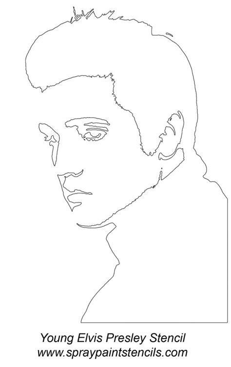 printable elvis mask elvis face stencil photo young elvis presley stencil gif