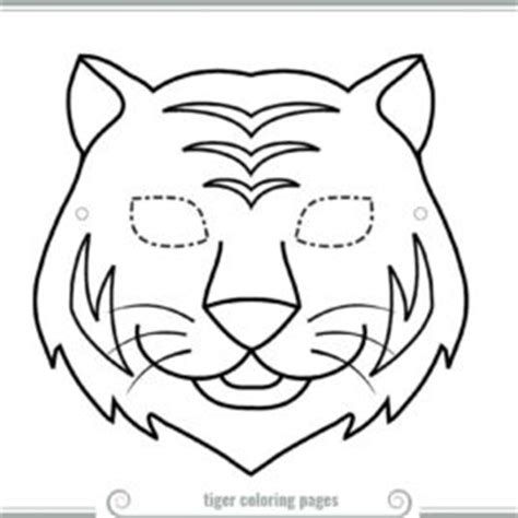 tiger mask printable coloring page for kids tiger mask