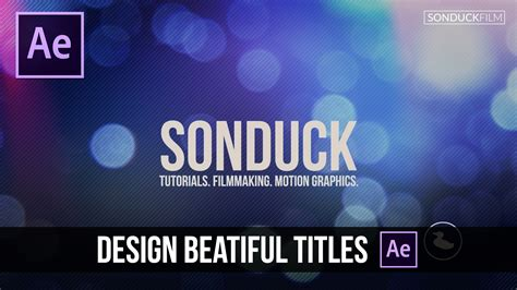 tutorial after effect title after effects tutorial design beautiful motion titles