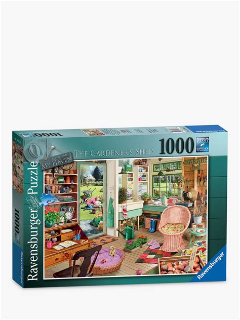 ravensburger  garden shed jigsaw puzzle  pieces