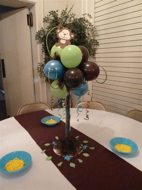 monkey baby shower ideas idea for height on table make it a banana tree