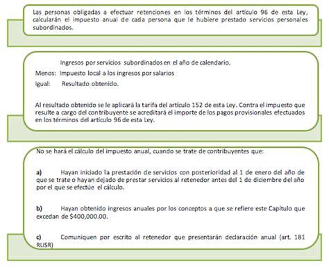 ley isr art 96 2016 art 152 de la ley de isr 2015 tarifa anual art 152 lisr