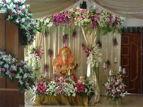 flower decoration ideas home ganesh chaturthi decoration ideas tips photos pictures