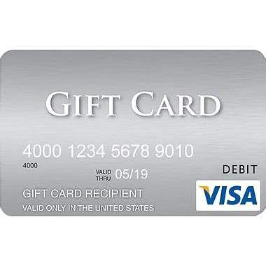 Visa Gift Card Name On Card - visa 174 300 gift card staples 174